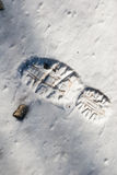 odcisk stopy skały śnieg Fotografia Royalty Free