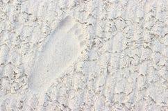 Odcisk stopy w piasku Zdjęcie Royalty Free