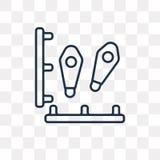 Odcisk stopy wektorowa ikona odizolowywająca na przejrzystym tle, liniowym royalty ilustracja