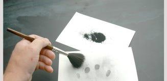 odciski palców w pył Fotografia Stock