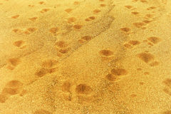 Odciski stopy na piasku Fotografia Royalty Free