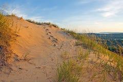 Odciski stopy w piasku Obraz Royalty Free