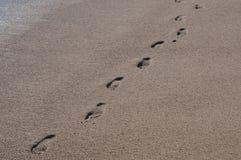 Odciski stopy w piasku 3 Obraz Royalty Free