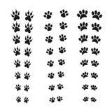 Odciski stopy zwierzęca łapa Sieci kreskowa ikona Abstrakcjonistyczny wektor Dla sieci i wiszącej ozdoby zastosowań, ilustracyjny ilustracji