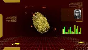 Odcisku palca Cyfrowego Futurystyczny obraz cyfrowy zdjęcie wideo
