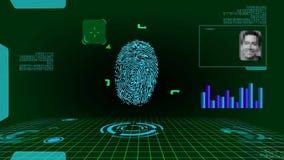 Odcisku palca Cyfrowego Futurystyczny obraz cyfrowy zbiory wideo