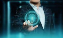 Odcisku palca obraz cyfrowy zapewnia ochrona dostęp z biometrics identyfikacją Biznesowej technologii Zbawczy Internetowy pojęcie zdjęcie royalty free