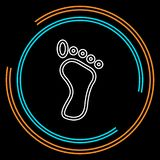 Odcisku stopego symbol, wektorowa nożna druk ilustracja - ludzkiej stopy druku znak royalty ilustracja