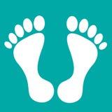 Odcisku stopy prosty płaski projekt obrazy stock