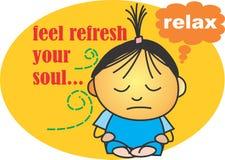 Odczucie świeży twój dusza Fotografia Stock