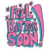 Odczucie lepszy wiadomość wkrótce ilustracji