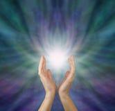 Odczuwać leczniczą energię Zdjęcia Stock
