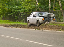 Odd accident Royalty Free Stock Photo