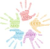 ODD Word Cloud. ODD ADHD word cloud on a white background Royalty Free Stock Photography
