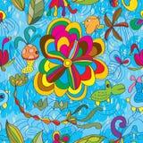 Odd animal seamless pattern Stock Photo