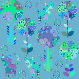 Odd animals  seamless pattern and cute seamless pattern in swatc Royalty Free Stock Photography