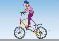 Odd bike Royalty Free Stock Image
