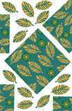Odd geometric and floral background for design shirts, clothes, Stock Photo