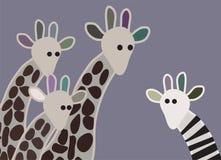 Odd giraffe Royalty Free Stock Photos
