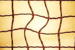 Odd grid of a fence. With rust Stock Photos