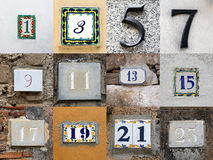 Odd House Numbers Royalty Free Stock Photos
