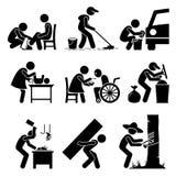Odd Jobs Stickman Clipart Stock Images