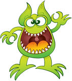 Odd monster laughing and making an OK gesture Royalty Free Stock Photography