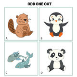 Odd one out child game vector illustration Royalty Free Stock Images