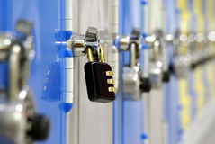 Odd one out padlock Royalty Free Stock Image