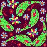 Odd Paisley seamless pattern and seamless pattern in swatch menu Stock Image