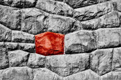Odd red stone Stock Photo