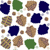 Odd seamless pattern  with creative leaves and seamless pattern Royalty Free Stock Image