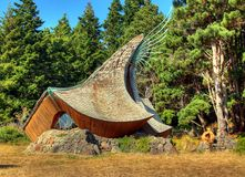 Odd Shaped Chapel. Chapel in Sea Ranch, on the Sonoma-Mendocino coast royalty free stock image