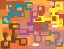 Odd Shapes abstrakt flerfärgad vektor Arkivbilder