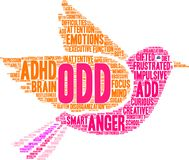 ODD Word Cloud illustration libre de droits