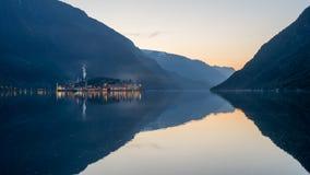 Odda minihaven in de ochtend Royalty-vrije Stock Fotografie