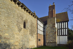 Odda`s Chapel & Abbot`s Court Royalty Free Stock Images