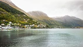 Odda is a town in the county of Hordaland of the Hardanger region, surrounding the southern part of Surfjorden in Norway. stock photography