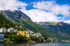 Odda is a town in Odda municipality in Hordaland county, Hardanger district in Norway. Located near Trolltunga. Odda is a town in Odda municipality in Hordaland stock images