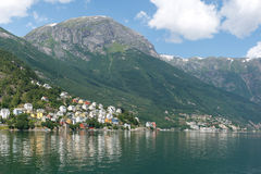 Odda Town in Norway Royalty Free Stock Photography