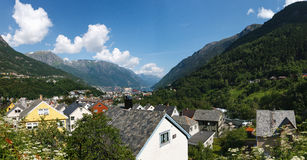 Odda Town in Norway Royalty Free Stock Photos