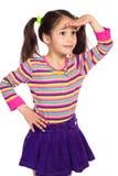 oddalonej dziewczyny mały zaskakujący target1801_0_ Zdjęcia Royalty Free