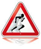 oddalony ciągnący biegacz Zdjęcie Royalty Free