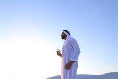 Oddech świeżość męski muzułmanin w środku suchy klimat s Obrazy Royalty Free