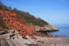 Oddicombe beach, Torquay Stock Photo