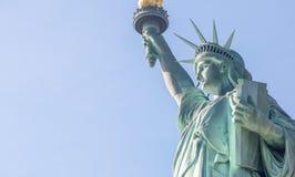 Oddolny boczny widok statua wolności, NYC obrazy royalty free