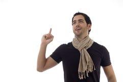 oddolny mężczyzna wskazujący portret obrazy royalty free