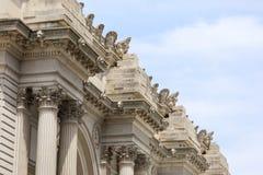 Oddolny widok architektoniczny szczegół Wielkomiejski muzeum sztuki obraz stock
