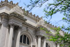 Oddolny widok architektoniczny szczegół Wielkomiejski muzeum sztuki fotografia stock