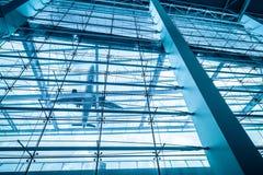 Oddolny widok lotniskowy terminal zdjęcia stock